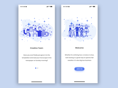 Team App Welcome Screen