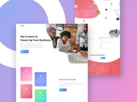 Seo & Marketing Company Landing Page web marketing seo ux clean typography gradient color landing page creative ui design
