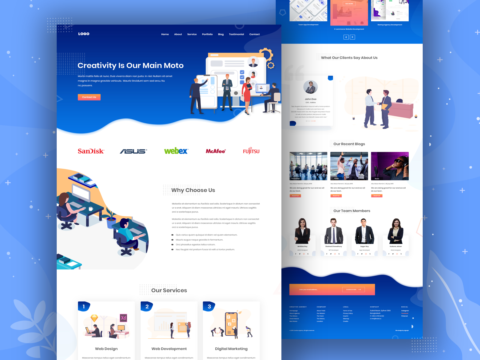 Best Landing Pages 2020.Creative Agency Landing Page By Abu Naser Ramim For