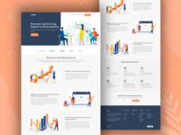 Industry Expert Landing Page app ios industry clean illustration typography gradient creative landing page design ui