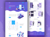 Chatbot Company Landing Page web gradient chatbot icon typography app vector illustration creative landing page design