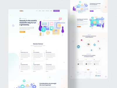 Saas Landing Concept || Product Landing Concept new website desin twinkle clean sass landing page sass vector template bootstrap agency minimal ui ux illustration website landing page design landing page creative design 2020 trend