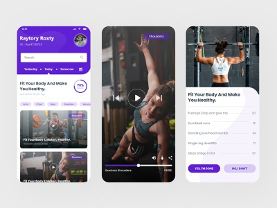 Physical Training App print arms schedule lifestyle healthy food bootstrap color photography new iphonex iphone x ios app mobile app training app training physical ui ux illustration