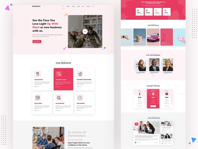 Busiword - Multipurpose Business and Agency Template portfolio creative corporate typography vector design color minimal bootstrap branding business website business agency website illustration agency ux ui