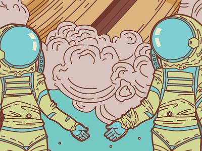 The Lovers in Space davis kaylee poster adobe illustrator illustration retro sci-fi tarot
