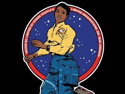 Mae Jemison davis kaylee nasa space history astronaut illustrator illustration