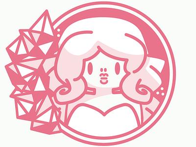 And If You Think We Can't quartz crystal rose vector line kaylee davis steven universe icon illustrator illustration
