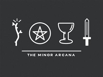 Tarot Icon Set - Minor Arcana davis kaylee tarot icon line icon set vector illustrator illustration