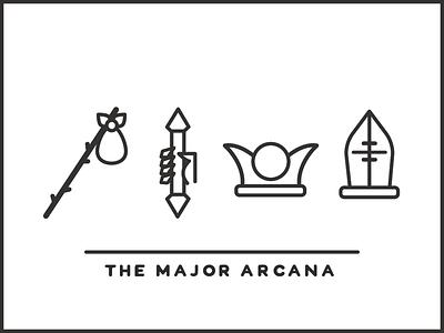 Tarot Icon Set - Major Arcana 1 vector tarot line kaylee illustrator illustration icon set icon davis