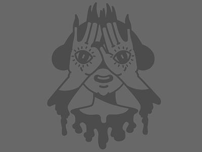 Keep'n Weird vignette horror monster anime kaylee davis line vector illustrator