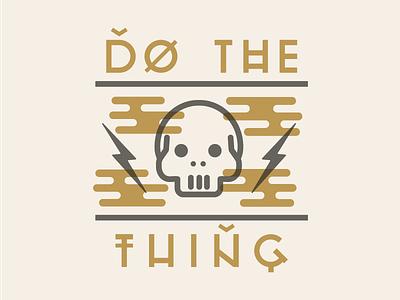 Do The Thing graphic design vector line kaylee davis lightning skull illustrator illustration