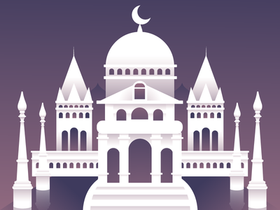 Welcome to The Moon Kingdom castle sailor moon gradient kaylee davis illustration vector