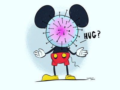 Mickey Corona corona virus mickey mouse adobe fresco digital art design vector illustrator art illustration