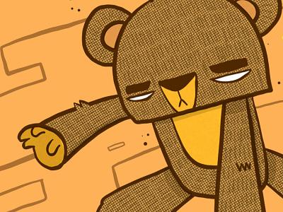 Cuddling Teddy illustrator art digital art vector illustration adobe fresco