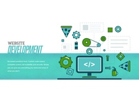 Website development illustration