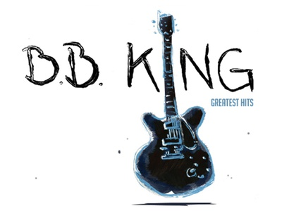 BB King Greatest Hits blues music guitar illustration