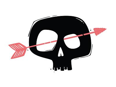 Skull & Arrow illustrator digital art vector illustration arrow skull