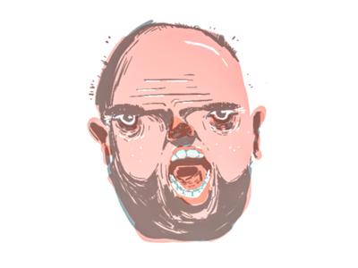 Man Yelling digital painting drawing art face yelling illustration