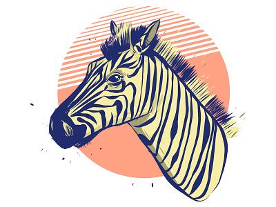 Zebra Head vector art ipencil adobe illustrator zebra illustration art vector