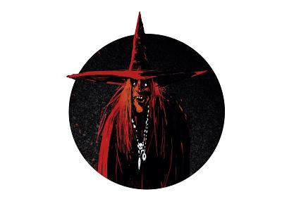 Witch procreate sketch digital art art illustration halloween scary