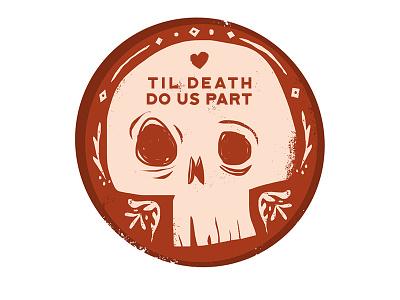 Til Death drawing digital art art illustration photoshop skull