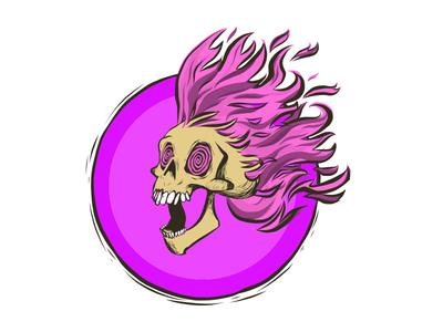 Fire Skull art digital art adobe draw vector illustration skull