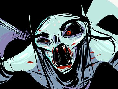 Thirsty vampire halloween ipad art art illustrator vector adobe draw