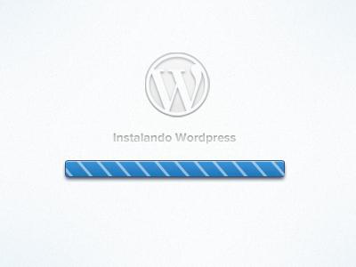 Wordpress App Installer  installer wordpress dashboard minimalism ui design ux bar white blue interface usability mobile icon