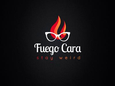fuego cara logo design