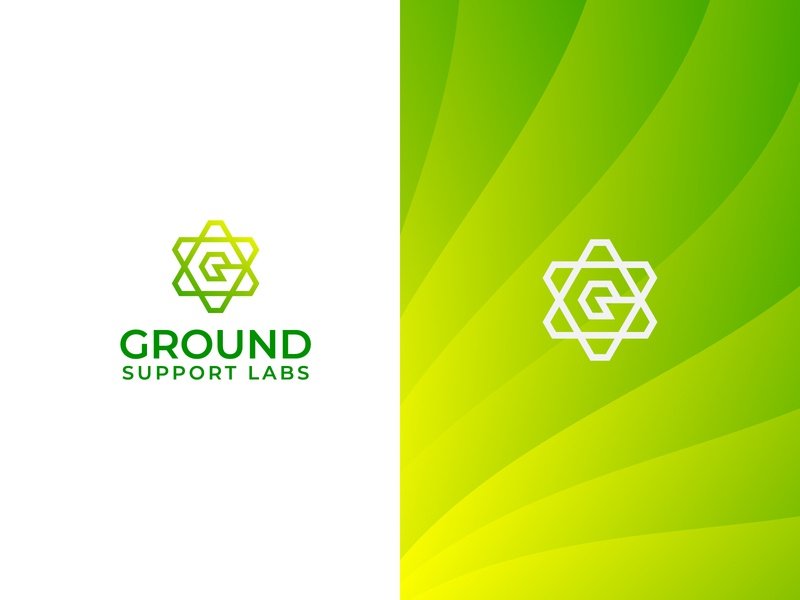 Software Logo - Ground Support lab - identity grid logo company logo software application desktop startup b2b product saas sass b2c branding identity design modern apps minimalist minimal grid flat