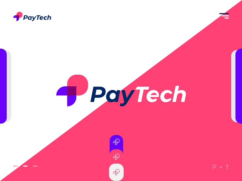 PayTech Payment App Logo desktop golden-ratio technology grid block-chain marketing b2b print digital agency software company flat symbol product trending clean minimal type vector website typography  vector illustration  logo icon  identity branding  design app