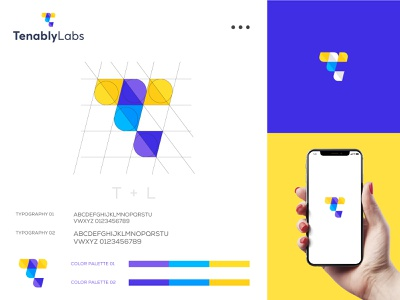 Tenably Labs logo app design uiux apple app apps branding flat symbol company blockchain technology vector logo brand startup b2b product saas sass b2c software application desktop icon illustrator color flat grid gloden ratio business agency service branding identity design