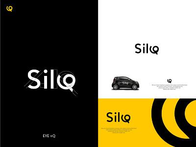 Silq Logo Design yellow logo typography logo letter logo logo design modern logo branding brand identity concept graphic design conceptual logo logotype abastact l o g o lo go creative logo logo 2021
