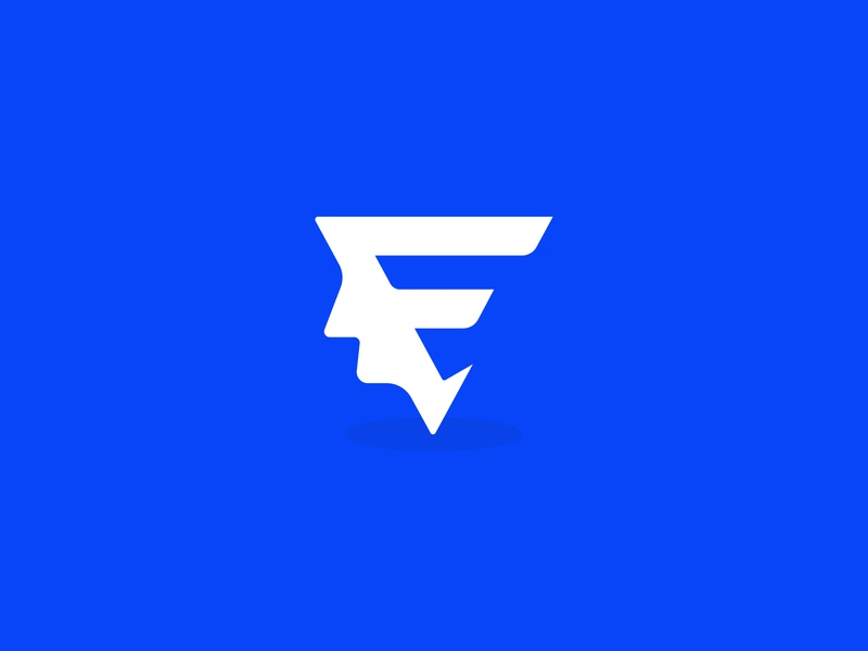 F+Face Brand Icon company google dropbox cryptocurrency blockchain new trend web app popular trending lettering flat grid gloden ratio icon illustrator color software application desktop saas sass b2c startup b2b product business agency service vector logo brand branding identity design