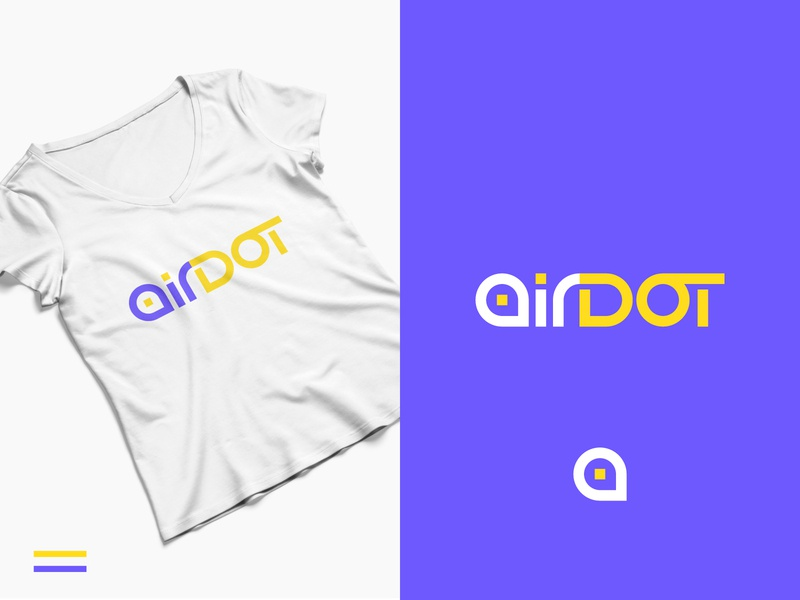 "Local guide App ""Air Dot"" mobile place food website vector typography logo illustration identity icon design branding app"