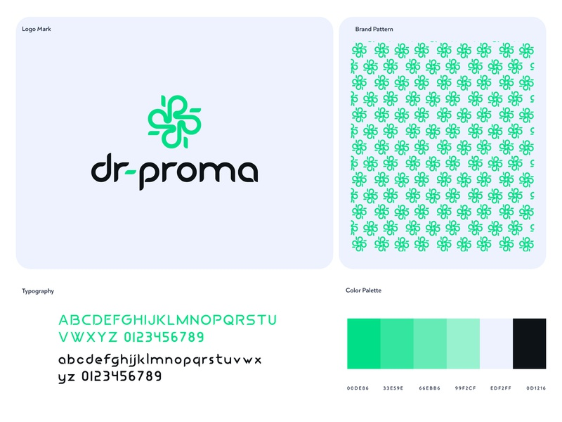 New Shot on Dribbble for personal branding dr-proma icon simple app flat modern minimalist icon illustrator color flat grid gloden ratio branding identity design
