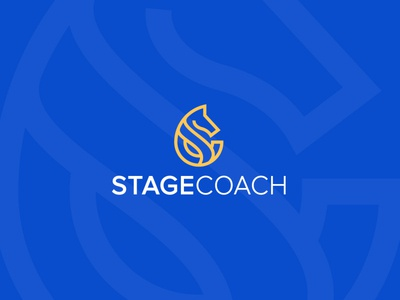 Minimal logo Design- StageCoach real estate b2b desktop b2c software application sass saas colour icon illustrator company flat symbol golden ratio flat grid service business agency line art minimalistic apps blockchain technology branding identity design