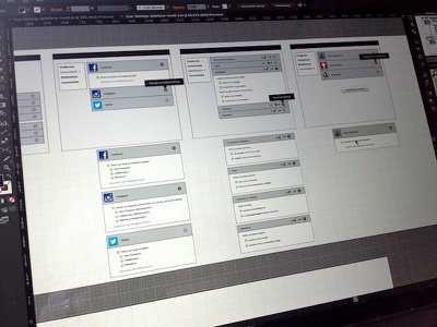 Boxes and Boxy Boxes wireframes workflow ux ia social media backplane ix madewith:illustrator