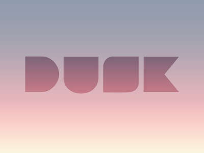Dusk rebound madewith:illustrator