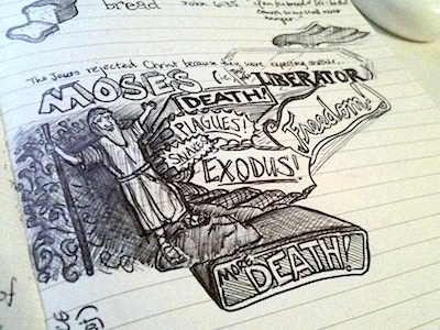 Sunday School Sketchnotes sketchnotes moses death plagues freedom church sketches handmade traditional exodus snakes handdrawn more death sunday school typography lettering non-digital hand drawn