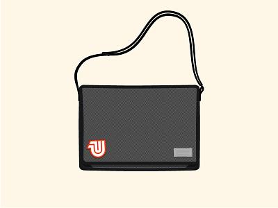 Still Workin' laptop bag messenger bag hex bag uwp bags walllpaper illustration herringbone