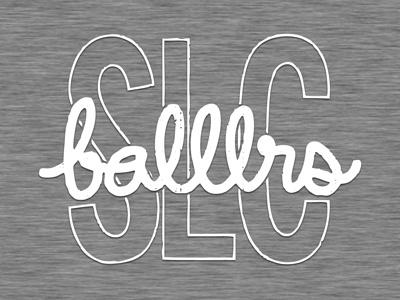 SLC Balllrs meetup slc salt lake slcballlrs slcdribbble busted type