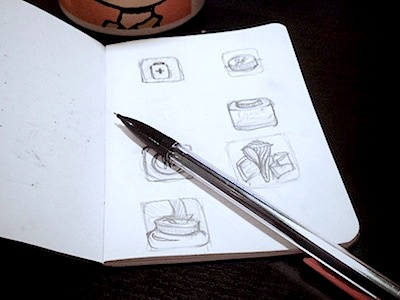 My Two Cents app icon rebound sketch