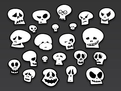 Skulls skull halloween skulls skeleton quirky bw spooky adobe ideas vector ideas madewith:adobeideas