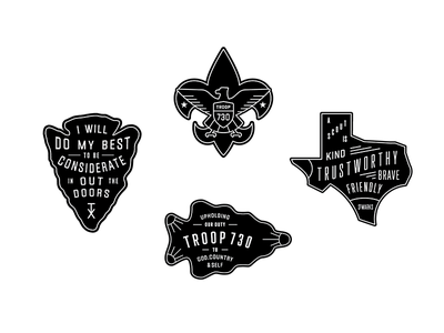 More Boy Scouts Badges patches outdoors boy scouts illustration icons type logos badges