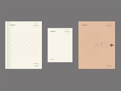 Uppercut Exploration 1a neutral layout folder letterhead minimal simple geometric pattern mark logo branding tractorbeam