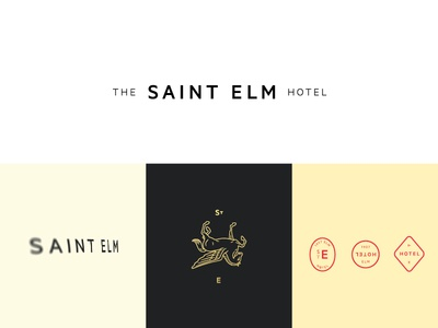 Saint Elm Exploration 2a perspective hotel st blur horse mark seal illustration branding tractorbeam