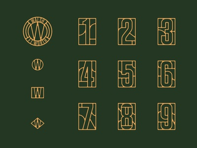 Walsh Marks and Numbers cattle brand stained glass geometric seal mark monogram mono line branding tractorbeam