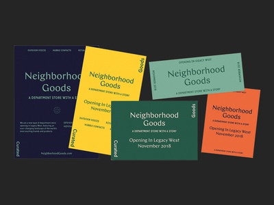 Neighborhood Goods Flyers type identity mark typography logo branding design flyer campaign ad marketing collateral print tractorbeam
