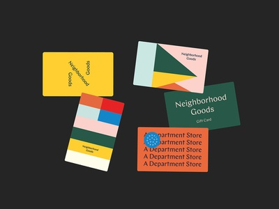 Neighborhood Goods Gift Cards logo mark pattern design identity typography type branding tractorbeam